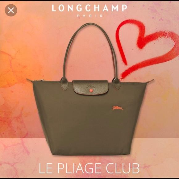 Longchamp Le Pliage Club large khaki NWT